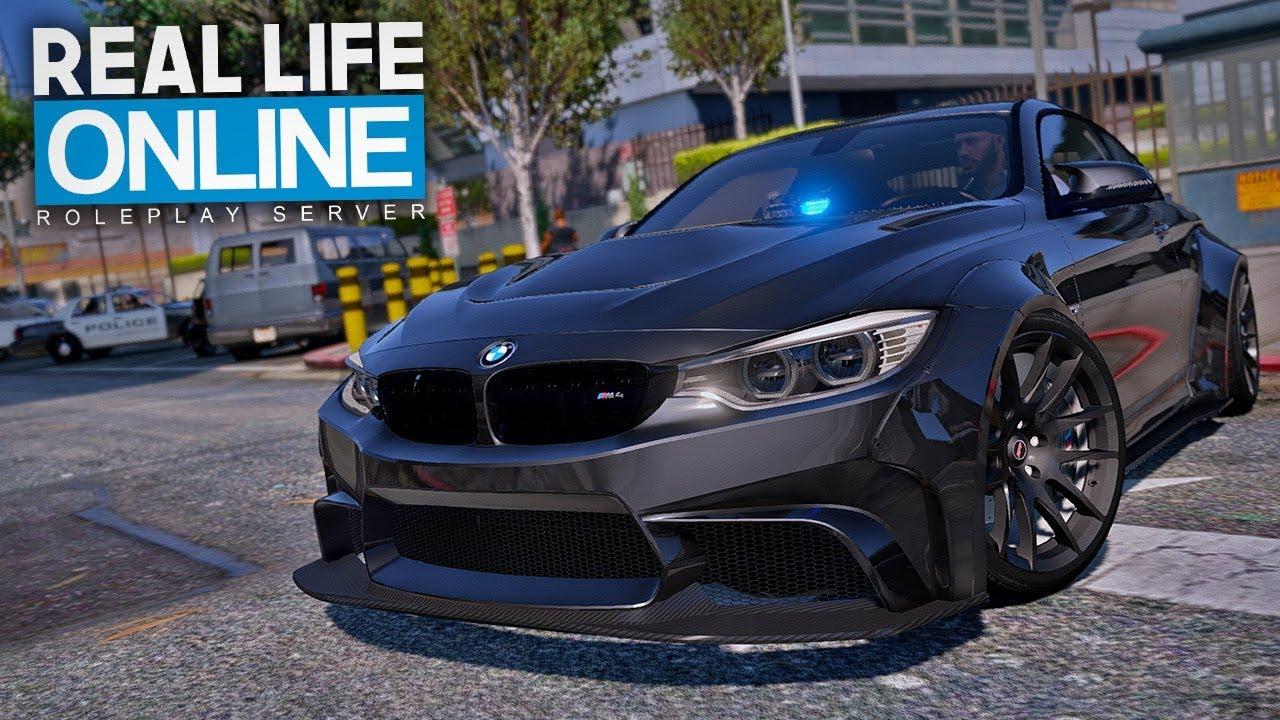 POLIZIST jagt Raser im BMW M4! - GTA 5 Real Life Online thumbnail