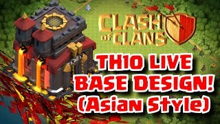 Making A TROLL BASE For Town Hall 10 (TH10) - Clash Of Clans Live - SchoolOfClash Crystal League