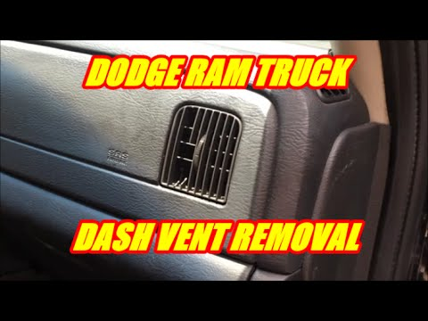 DODGE RAM TRUCK DASH VENT REMOVAL