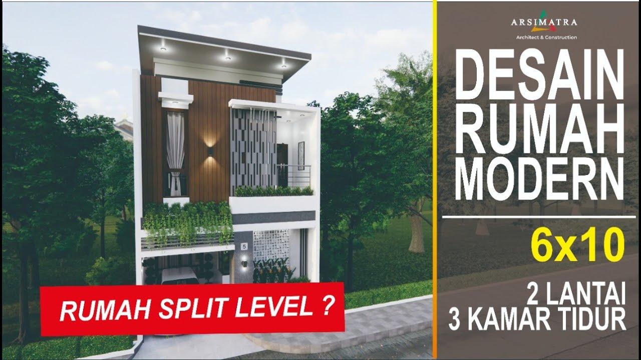 Kekinian Banget Desain Rumah Modern Split Level Di Lahan 6x10 Youtube