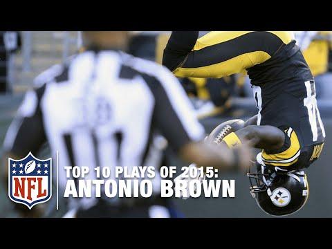 Top 10 Antonio Brown Highlights of 2015 | NFL