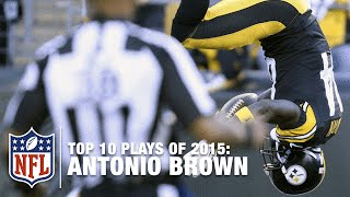 Top 10 Antonio Brown Highlights of 2015 | NFL
