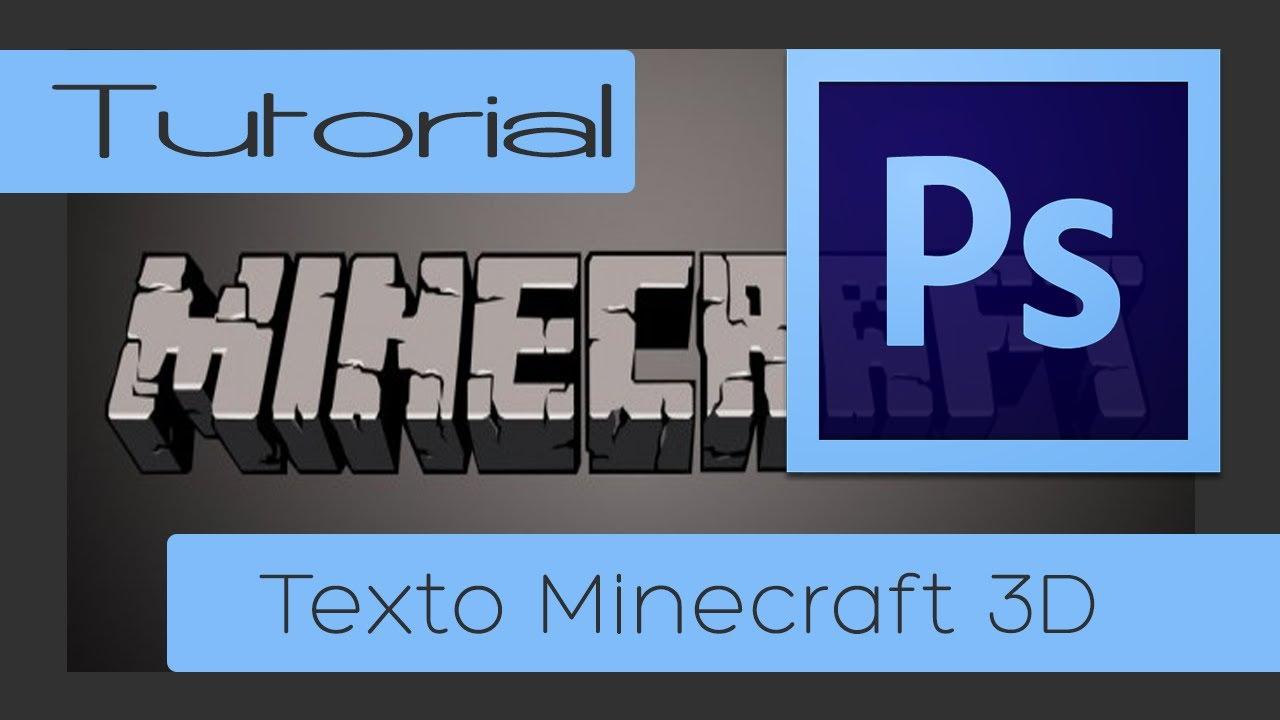 Criando texto Minecraft 3D - PHOTOSHOP CS6
