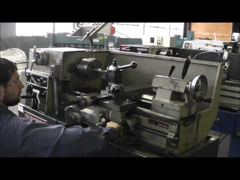 Clausing 1300 Lathe - Variable Speed Tool Room Lathe - YouTube