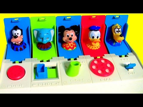 Disney Baby Poppin Pals Pop Up Toy Surprise For Preschool Kids And Babies Dumbo Goofy Pluto Donald