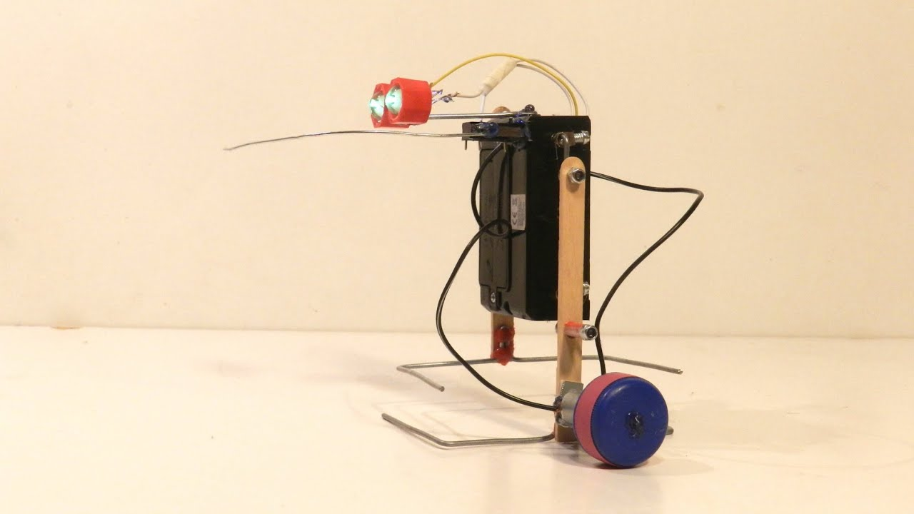how to make a simple walking robot that can avoid obstacles youtube