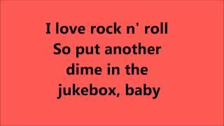 Joan Jett I Love Rock N Roll lyrics