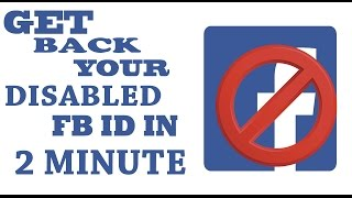 RECOVER DISABLED | TEMPORARY DISABLED | PERMANENTLY DISABLE  |  FACEBOOK ACCOUNT  IN JUST 2 MUNITE