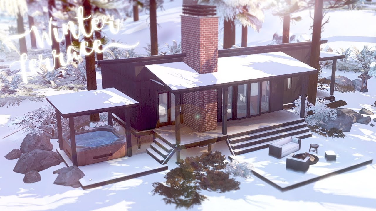 Winter Terrace 🏡 🏔️ | Lakeside Vacation Home | The Sims 4 ...