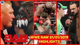 WWE Monday Night Raw- January 21, 2019 Highlights Preview | WWE Raw 21/01/2019 Highlights