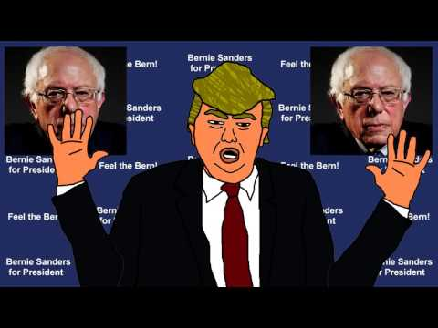 Donald Trump Attacks Bernie Sanders Cartoon / Parody / Impersonation Vs.
