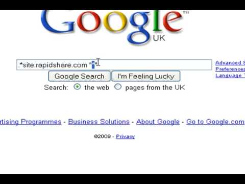 use google to search any file-hosting site