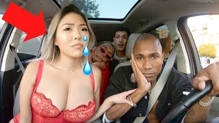 Uber Driver Makes Girl CRY Over Rap!