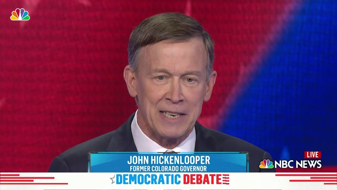 Image result for john hickenlooper debate