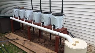 Repeat youtube video Hydroponics Easy Self Sustaining  - Beginners DIY Tomato Drip System Part 1