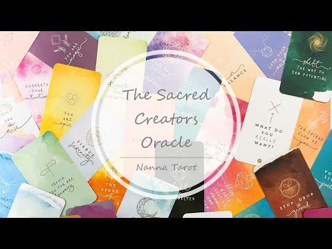開箱  神聖創始者神諭卡 • The Sacred Creators Oracle // Nanna Tarot