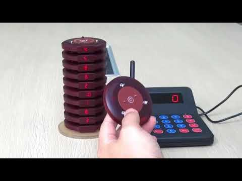 Restaurant Pager 10 X Coaster Pager+1 X Keypad Transmitter