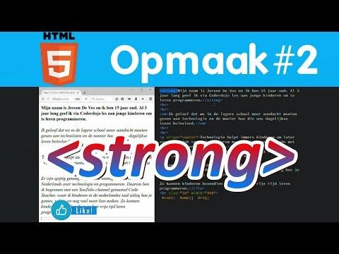 Alinea En Tekstopmaak #2 - HTML