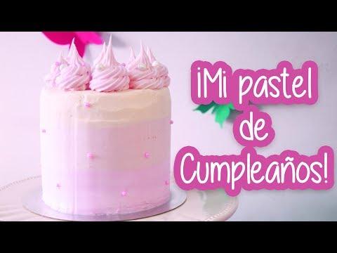 PASTEL DEGRADE CON BUTTERCREAM ¡Mi torta de cumpleaños!│ Vainilla Crocante