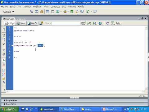 Videotutorial 4 ASP y SQL Server