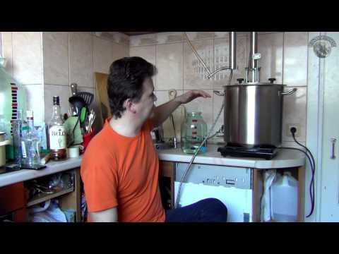 Ячменный самогон. Выход спирта-сырца после горячего осахаривания.