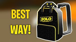 HOW TO GET THE SOLO BRANDED BACKPACK! (Roblox Event 2018)