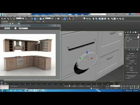Tutorial On Modeling A Kitchen Cabinet In 3dsmax Part 1