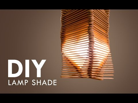 Lamp Shade:Do it Yourself | Easy Decorative ideas with Popsicle Stick