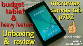 micromax canvas tab p702 unboxing & review | micromax tablet unboxing in hindi, cheap and best
