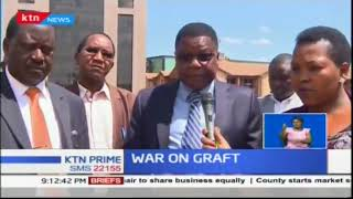 Former members of parliament from Meru region met Raila Odinga supporting war on graft