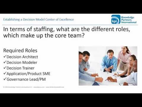 Establishing A Decision Model Center Of Excellence
