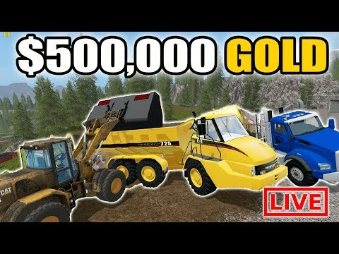 MINING SIMULATOR 2017 | 5 MAN GOLD MINING CREW! | HOW MUCH GOLD CAN WE GET?? | LIVE STREAM