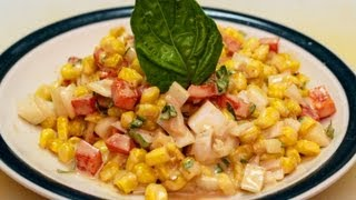 Toasted Corn & Roasted Red Bell Pepper Salad