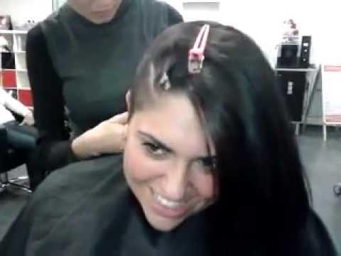 Haare halb rasieren