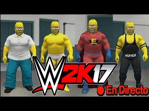 Creando a HOMERO Simpson WWE 2K17 - (EN VIVO)