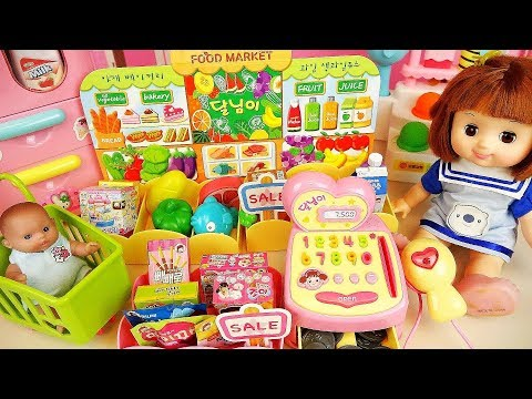 Baby doll Mart toys and ice cream shop baby Doli play