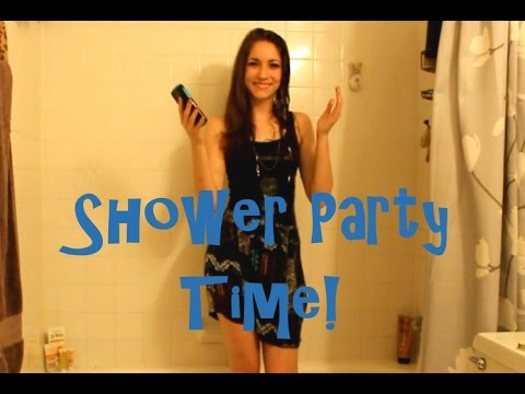 Shower Party Time Talks With Little Juice Box!!!
