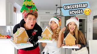 BUILDING GINGERBREAD HOUSES WITH BEN & LEXI!!!