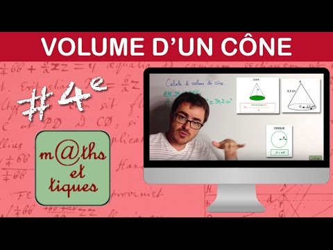 Calculer le volume d'un cône - Quatrième thumbnail