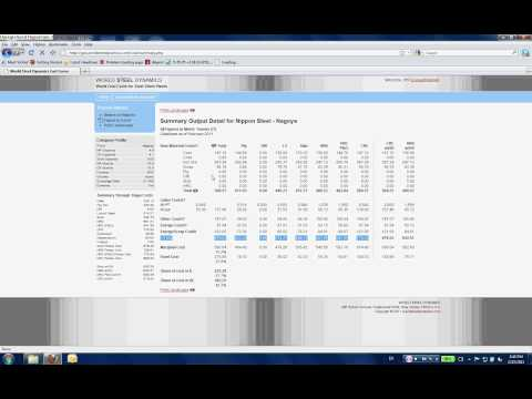 World Steel Dynamics: Interactive World Cost Curve Audio Demonstration
