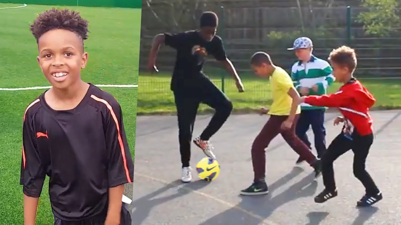 8 Year Old Vs 18 Year Old At Football Better Than Tekkerz Kid