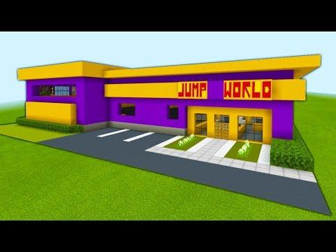 "Minecraft Tutorial: How To Make A Trampoline Park ""2019 City Tutorial"""