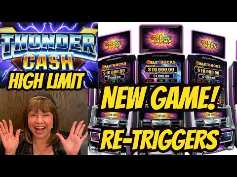 CRAZY RETRIGGERS ON NEW CRAZY BUCKS-THUNDER CASH BONUSES - 동영상