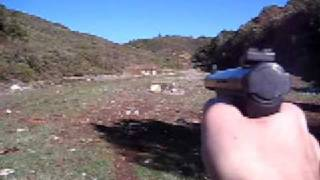 Ruger MKII  (or III im dumb)  .22 Pistol @ Cow Mountain, Ukiah, Ca
