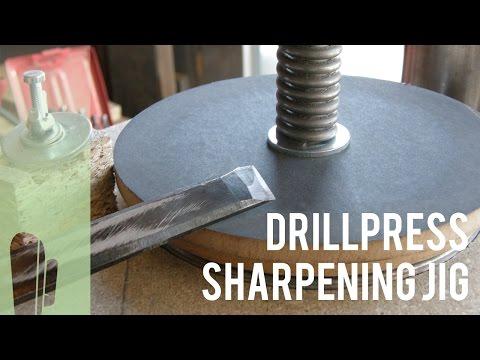 DIY Drillpress sharpening jig prototype (Part 1)