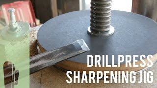 Diy Drillpress Sharpening Jig Prototype (part 1)