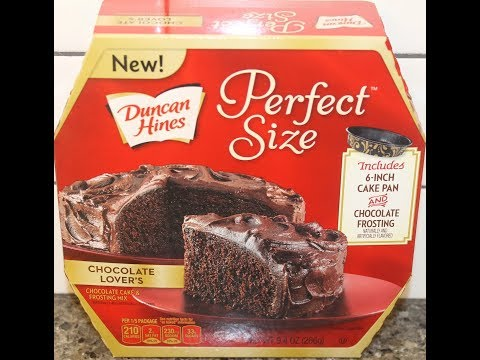 Duncan Hines Perfect Size Chocolate Lover's Cake & Frosting Mix - Preparation & Review