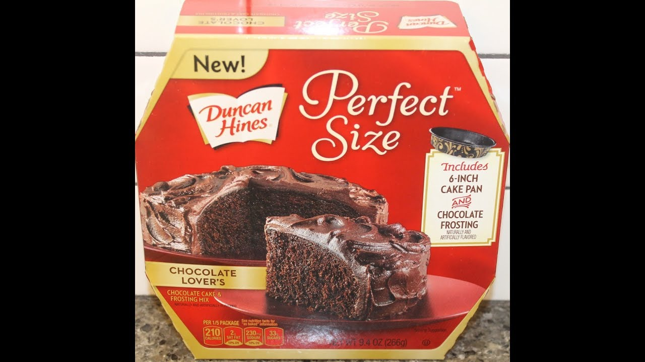Duncan Hines Perfect Size Chocolate Lover S Cake Frosting Mix Preparation Review Youtube