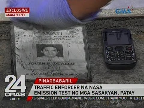 24 Oras Exclusive: Traffic enforcer na nasa emission test ng mga sasakyan, patay sa pamamaril