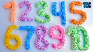 Learn To Count with Squishy Glitter Foam 1-10|Learn To Count with Play-doh 11 to 20|1 to 20|Numbers